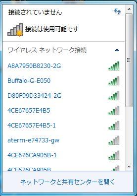 無線LANアクセスポイント状況