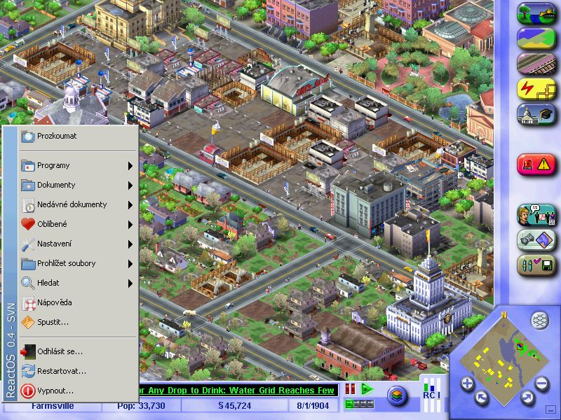Simcity3000 on ReactOS